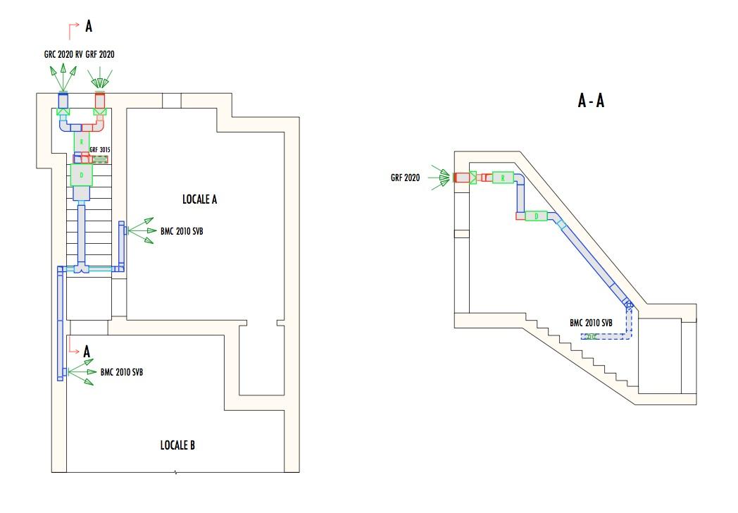 Esempi di impianto di deumidificazione dell'aria per ...