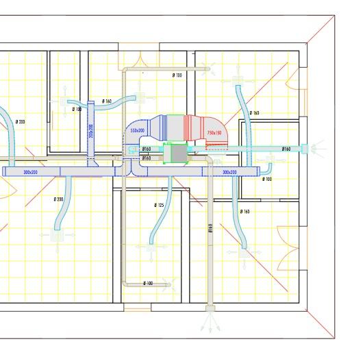 Disegno impianto condizionamento arieggiare for Impianto condizionamento canalizzato