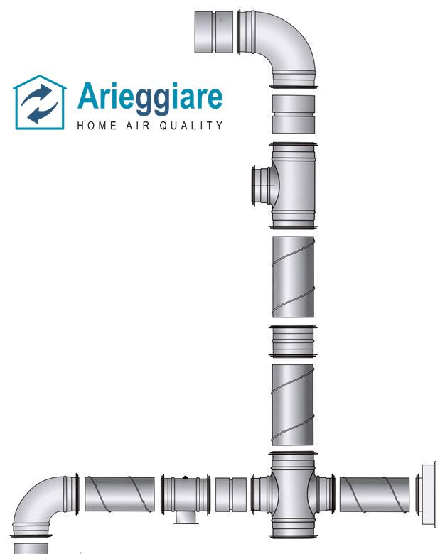 Tubo spiro in lamiera di acciaio zincata condotta aria - Tubo cappa cucina diametro ...