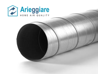 Tubo spiro in lamiera di acciaio zincata condotta aria for Tubo aspirazione cappa